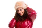 Mulher vestida para o inverno — Fotografia Stock