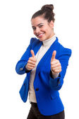 Young woman signaling ok — Stock Photo