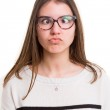 Woman making a silly expression — Stock Photo #68377659