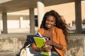 Happy student relaxing — Stock Photo