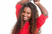Beautiful young african woman — Stock Photo