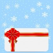 Kerstmis feestelijke postal — Stockvector