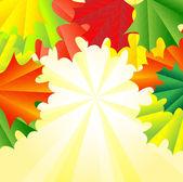 Fond pour une conception avec l'automne les feuilles d'érable — Vecteur