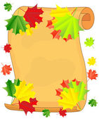 Background for a design with the autumn leaves of maple — Stock Vector