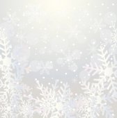 Festive christmas background with snowflakes — Stock Vector
