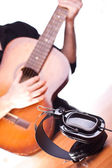 Acoustic guitar music — Stock Photo