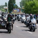 International Festival of bikers. — Stock Photo #74010681