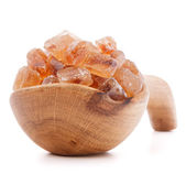 Brown cane caramelized lump sugar — Stock Photo