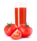 Tomato vegetable juice in glass — Stock Photo