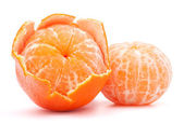 去皮的橘 — 图库照片