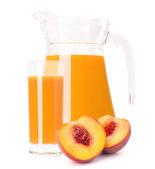 Peach fruit juice — Zdjęcie stockowe