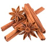 Cinnamon sticks and star anise spices — Stock Photo