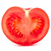 Tomato vegetable half — Stock Photo