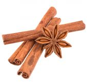Cinnamon stick and star anise spice — Stock Photo