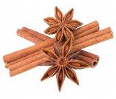 Cinnamon sticks and stars anise — Zdjęcie stockowe
