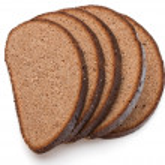 Slice of fresh rye bread — Stock Photo #67581175