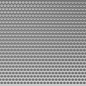 Perforated Metal Template. Translucent Grid Background — Stock Vector