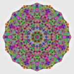 Abstract colorful circle backdrop. Geometric vector mandala. Mos — Stock Vector #54642773