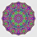 Abstract colorful circle backdrop. Geometric vector mandala. Mos — Stock Vector #54642813