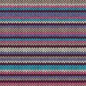 Modello a maglia a righe di colore senza soluzione di continuità — Vettoriale Stock
