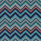 Style Seamless Knitted Pattern. Fashion Color Swatch — Stockvektor