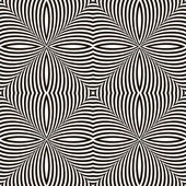Black and White Geometric Vector Shimmering Optical Illusion. Mo — Vetorial Stock