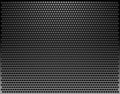 Perforated Metal Template. Translucent Grid Background. Vector I — Vettoriale Stock