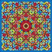抽象的なカラフルなデジタル装飾花の星。幾何学的な続き — ストックベクタ