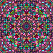 Abstract Colorful Digital Decorative Flower Star. Geometric Cont — Vettoriale Stock