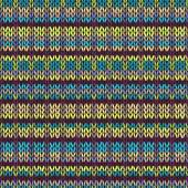 Knit Seamless Multicolor Striped Pattern. Blue Yellow Pink Vinou — Stock Vector