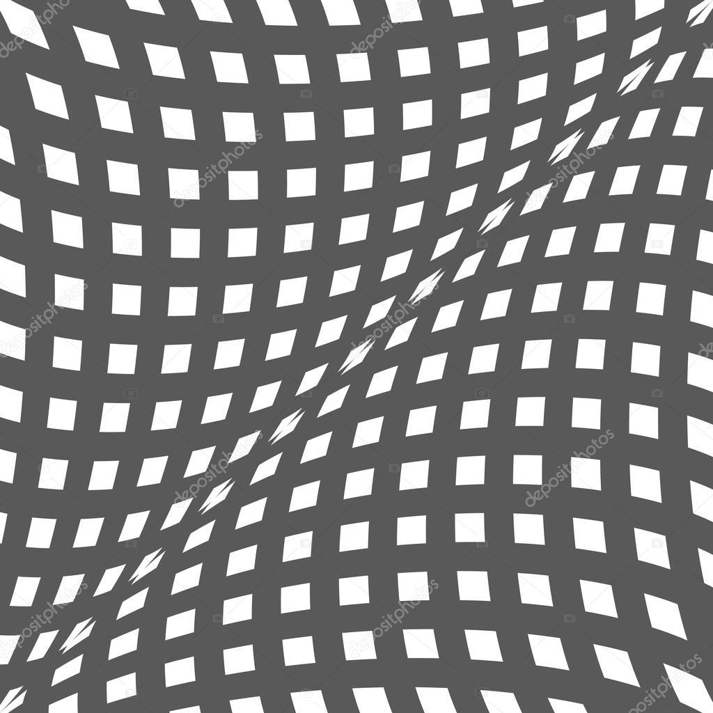 Illusion doptique noir et blanc op art fond de vecteur for Effet d optique 3d