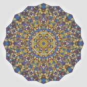 Abstract Digital Multicolor Geometrical Flower — Stockvektor