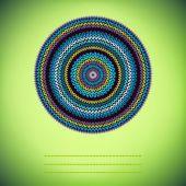 Cubra o fundo com o padrão de malha redonda ornamental, estilo ci — Fotografia Stock