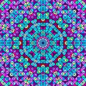 Abstrakt färgglada digital dekorativ blomma. geometriska kontrast linje star och blå Rosa röda cyan färg konstnärliga bakgrund — Stockfoto