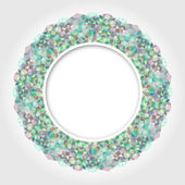 Abstract White Round Frame with Multicolor Emerald Digital Borde — ストック写真