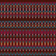 Seamless Ethnic Geometric Knitted Pattern. Style Red Blue Orange — Stock Photo #62390683
