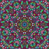 Abstrakte farbenfrohe Digital Dekorative Blumen-Star. Geometrischen Kontrast Line trendige Banner. Blau Gelb Rot-Cyan-Urlaub Kulisse — Stockfoto