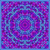 Estrella flor decorativa digital colorido abstractos. cont geométrica — Foto de Stock