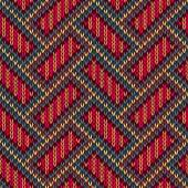 Seamless Knitted Pattern. Yellow Orange Red Blue Brown Color Bac — Stock Photo