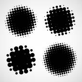 Abstract Halftone Backgrounds. Vector Set of Isolated Modern Des — Stock Photo