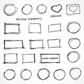 Set of Hand Drawn Isolated Scribble Design Elements for Business — Stock Photo