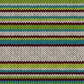 Seamless Color Striped Knitted Pattern — Stock Vector