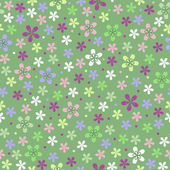 Flower seamless color pattern — Stock Vector