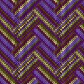 多彩多姿的无缝春针织的图案。绿色的紫丁香色 — 图库矢量图片