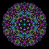 Soyut çiçek. tekerlek vektör yaratıcı renkli stil. Mavi kırmızı sarı siyah baskın renk — Stok Vektör