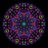 абстрактный цветок. творческий стиль красочный векторный колесо. голубой маг — Cтоковый вектор