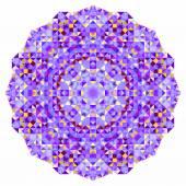 Abstrakten bunten kreis kulisse. mosaik runde banner blau violett rot orange gelb weiße farbe geometrische formen — Stockvektor