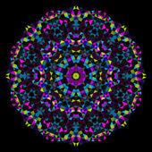 Abstrakt Blumen. Rad der kreativen bunten Stil-Vektor. Cyan Magenta gelb schwarz dominante Farbe — Stockvektor