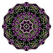 Abstract Digital Multicolor Geometrical Flower — Vetor de Stock