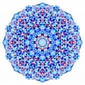 Abstract colorful circle backdrop. Geometric vector mandala. Mosaic banner of geometric shapes — Stock Vector